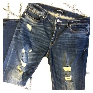 Express Jean / Jeggings (Distressed)